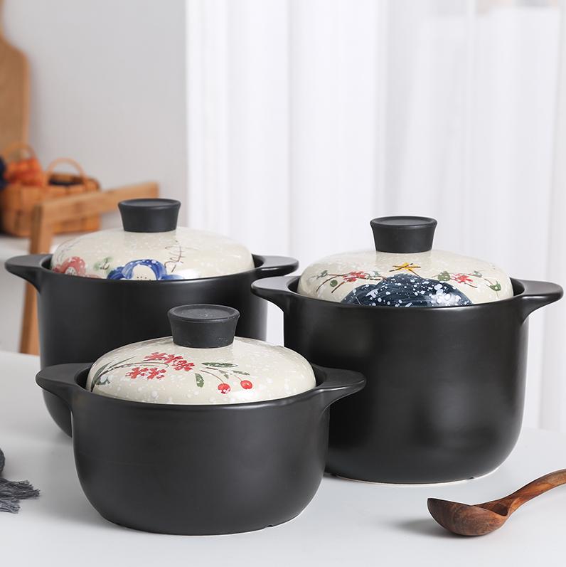 包邮创意家用厨房明火砂锅炖锅多人陶瓷煲餐馆耐高温燃气煲汤锅